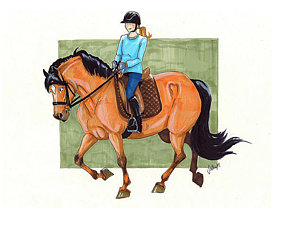 300x226 Girl Riding Horse Drawings Pixels