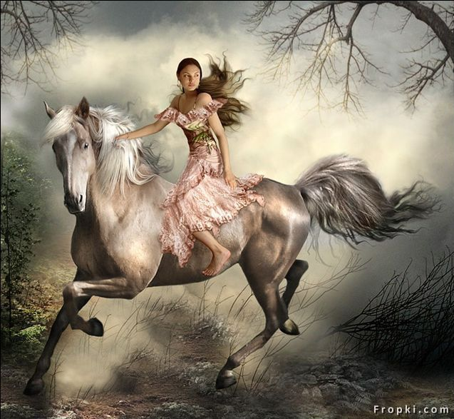 637x587 Drawing Of Woman On Horseback Horse Riding Girl