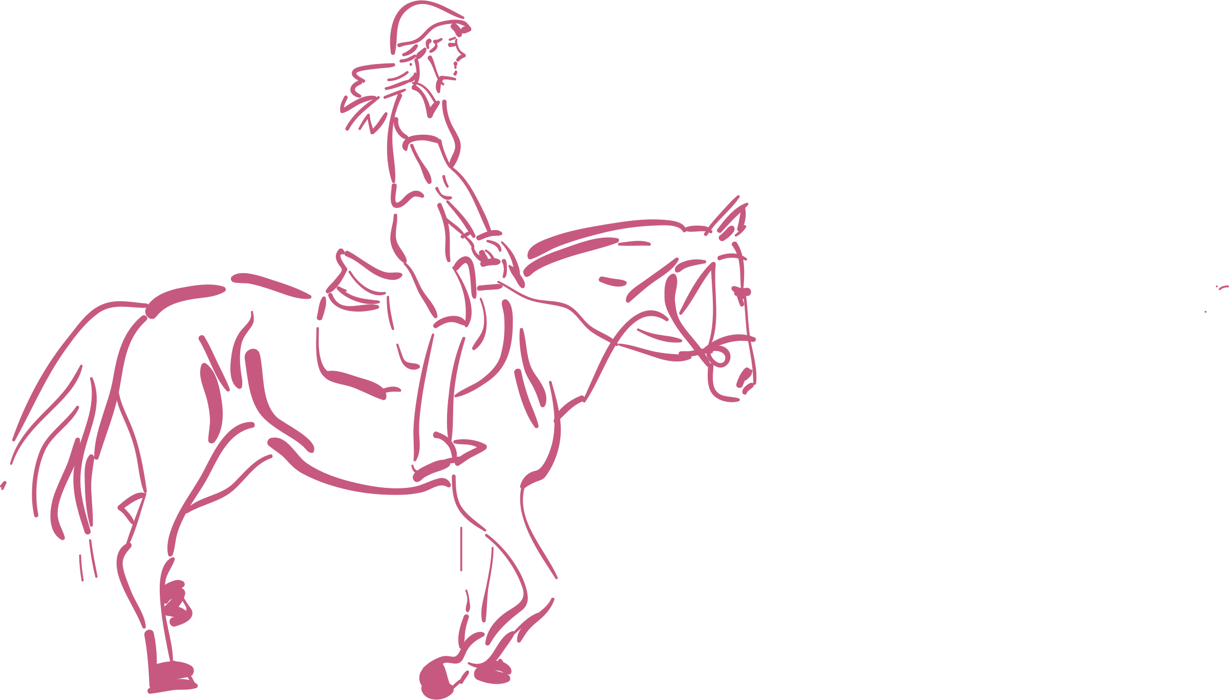 2400x1366 Girl Riding A Horse Icons Png