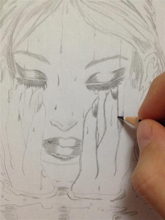 576x768 drawing sadness girl ☣ by kseniya d ☣