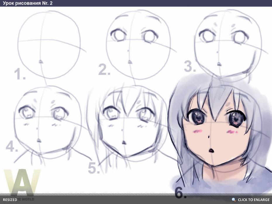 930x698 how to draw anime girl in 6 steps drawing chibis manga anime
