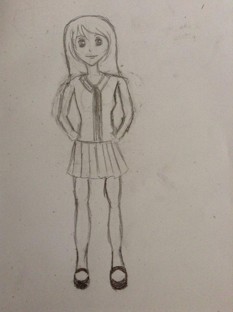 772x1034 Anime Girl (Full Body) By Hotaruyoko