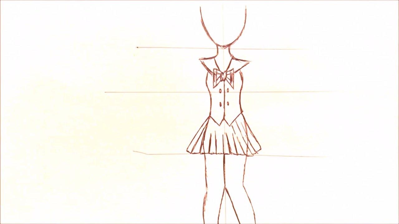 1280x720 Drawing A Basic Full Body Animemanga Girl