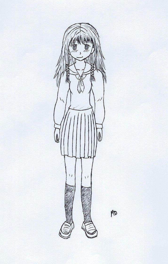 714x1120 Manga Girl Full Body By Skidude2000
