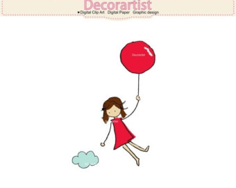 340x270 Rubber Stamp Banksy Girl Floating With Balloonsscrapbooking