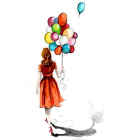 236x279 Drawing Of A Girl With A Balloon
