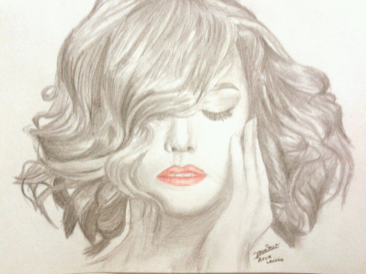 Girl With Curly Hair Drawing At Getdrawings Com Free For