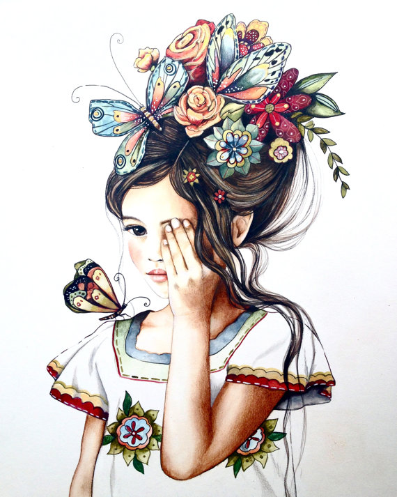 570x713 Flowers In Her Hair