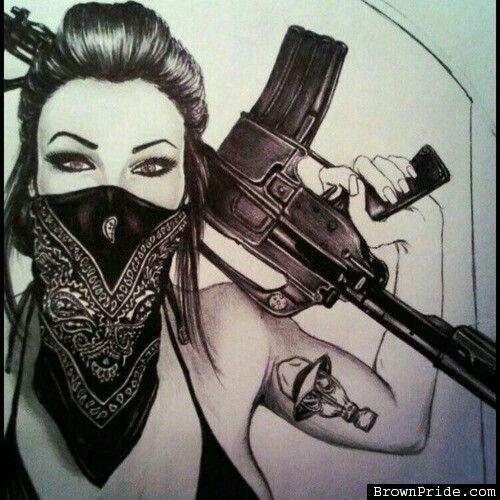 500x500 Image Result For Gangster White Girl Sketches Sickkk Asf