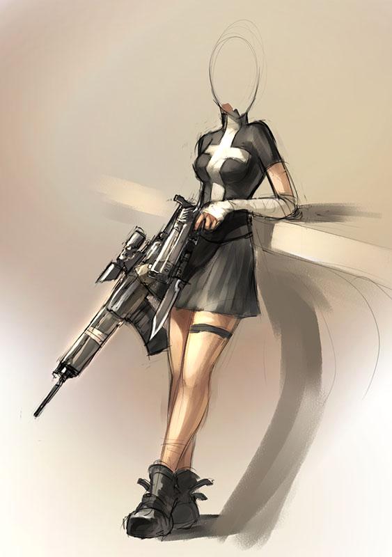 563x800 Some Girl With Guns. By Morriperkele