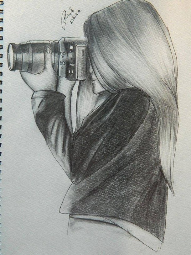 girl with long hair drawing at getdrawingscom free for
