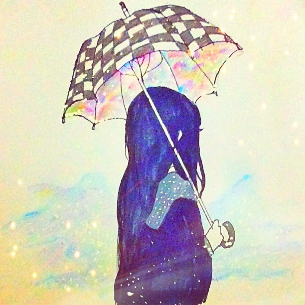 Girl With Umbrella Drawing At Getdrawings Com Free For Personal