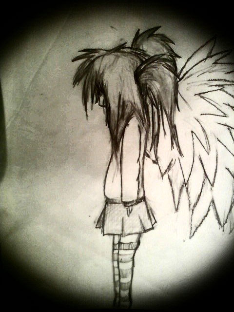 Girl With Wings Drawing At Getdrawings Com Free For Personal Use