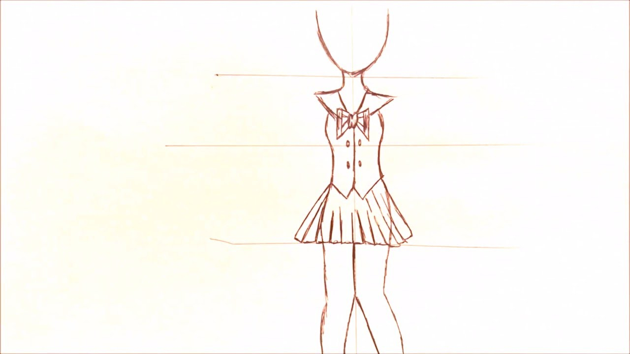 1280x720 Draw Anime Girl Body Drawing A Basic Full Body Animemanga Girl