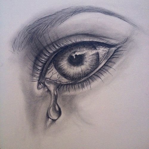 500x500 Pictures Crying Girls Images With Sketch,