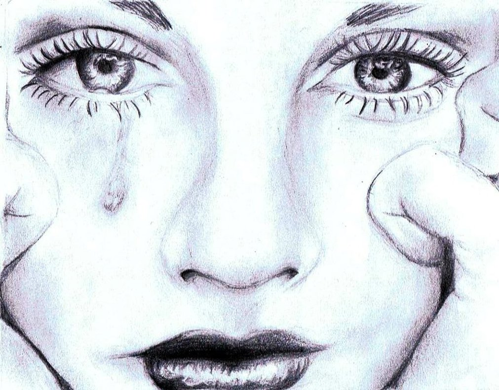 Alone drawing pencil 1011x791 girl crying
