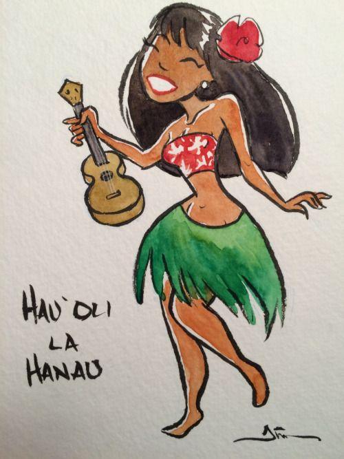 500x667 16 Best Hula Girl Drawings Amp Art Images On Hula Girl