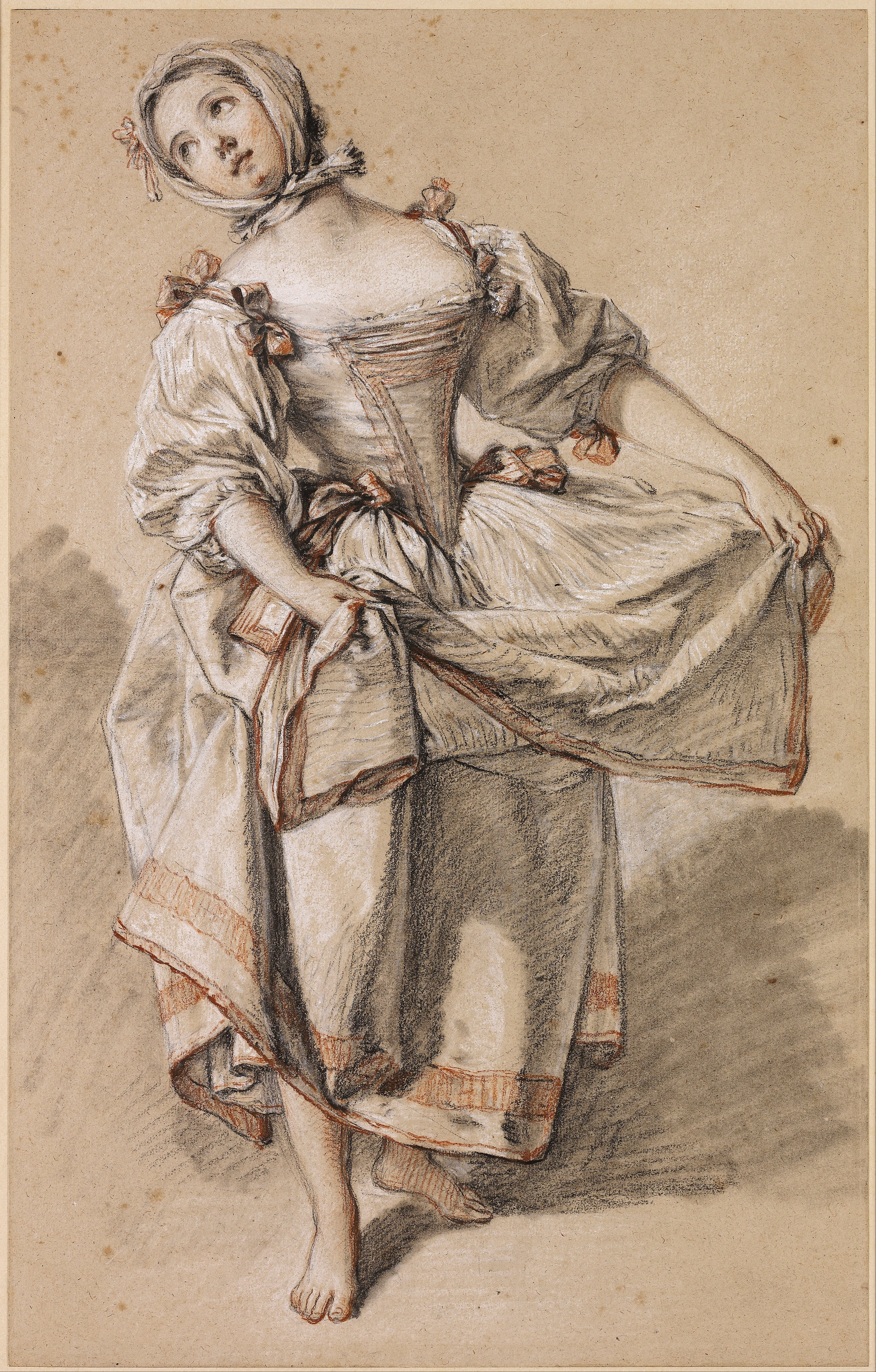 4210x6597 By Boucher(1703 1770) Young Country Girl Dancing (C.1765
