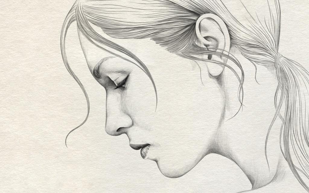 1024x640 Pencil Drawings Of Girls