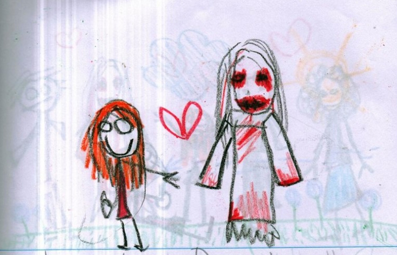 792x510 This Little Girls Disturbing Drawings Of Her Imaginary Friend Will
