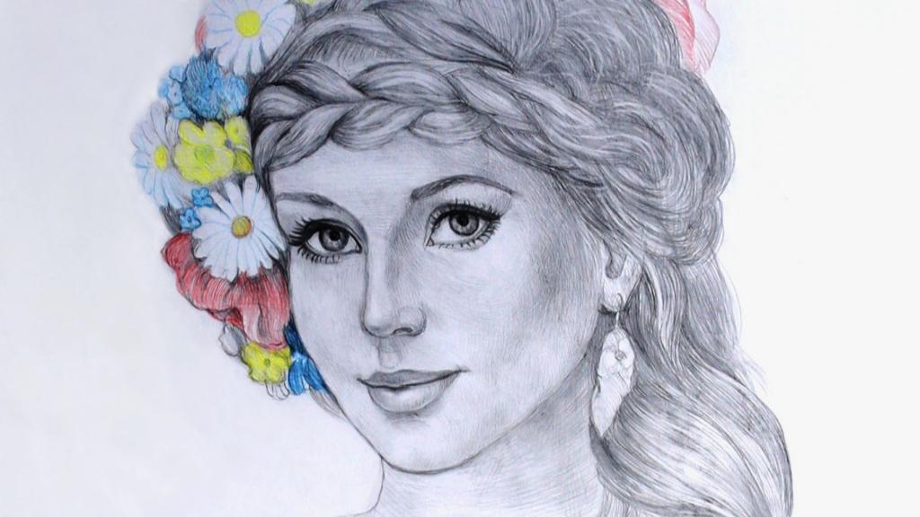 1024x576 Girls Face Sketching Painting Beautiful Girls Face Drawing