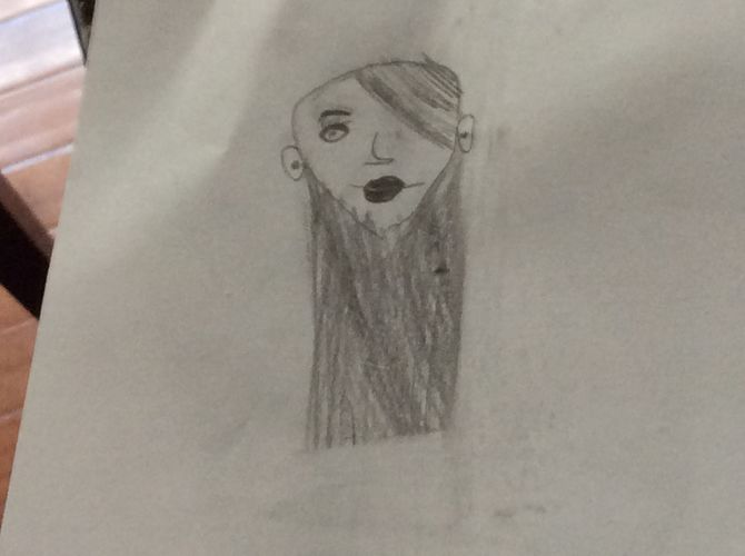 670x500 Pictures Drawing Of Girls Face,
