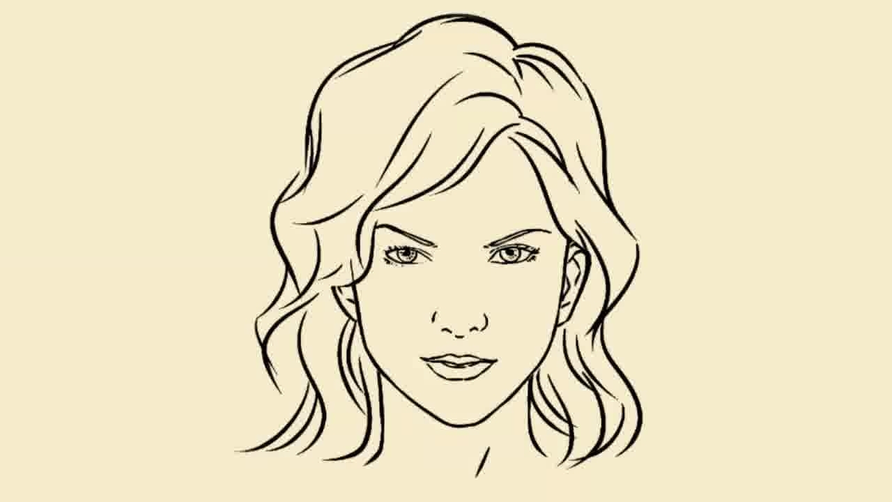 1280x720 Simple Girls Face Drawing Simple Girl Face Drawing Girl Face Draw