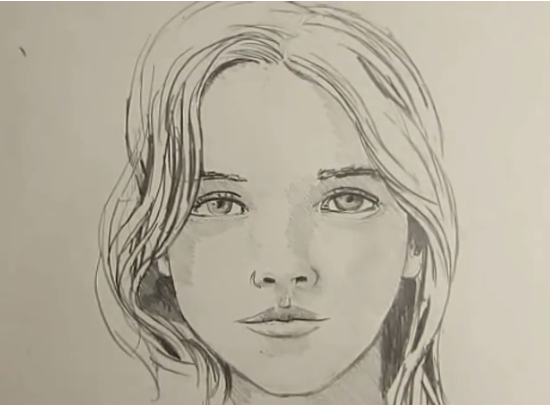 550x405 draw girl face