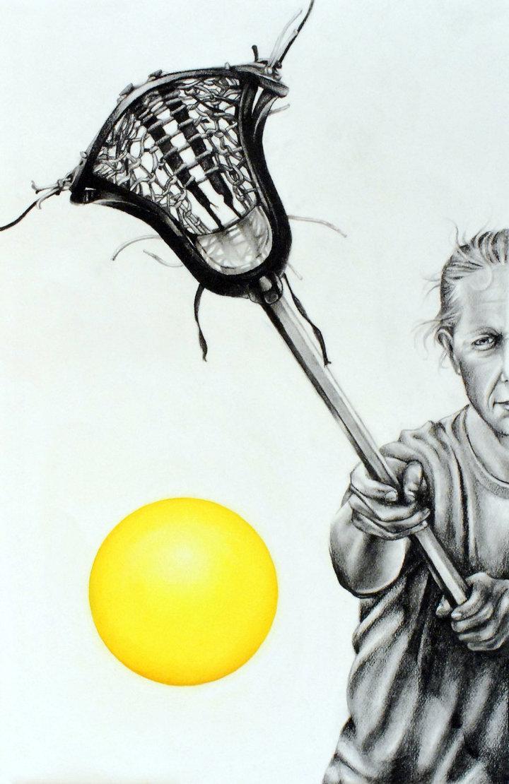 720x1110 Lacrosse Player By Zerafina