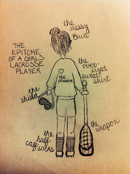 500x669 Tr3cherous The Epitome Of A Girls Lacrosse Player Drawn By Me