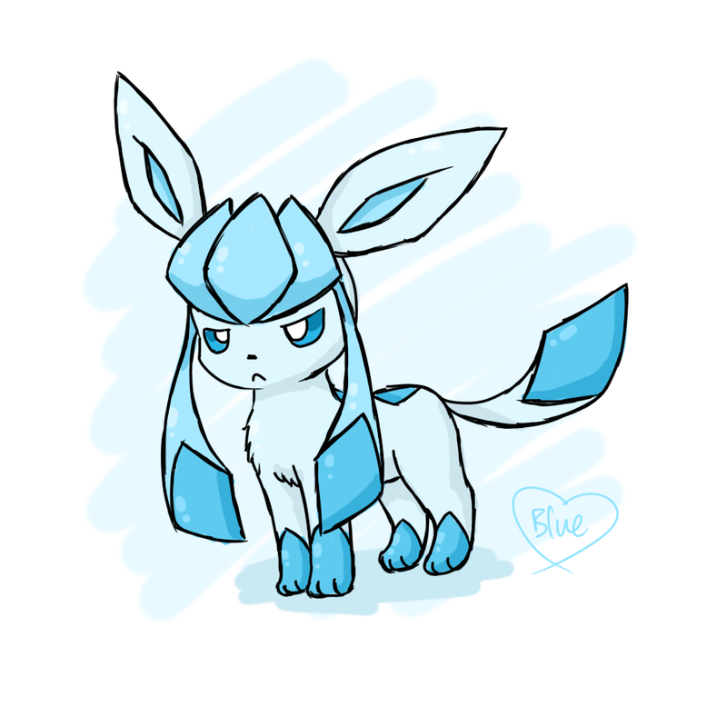 800x800 Grumpy Chibi Glaceon By Bluekiss131 On Pokemon