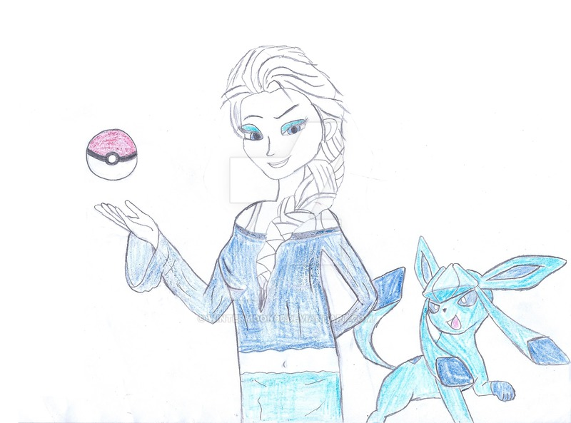 800x593 Gym Leader Elsa And Her Glaceon By Wintermoon95