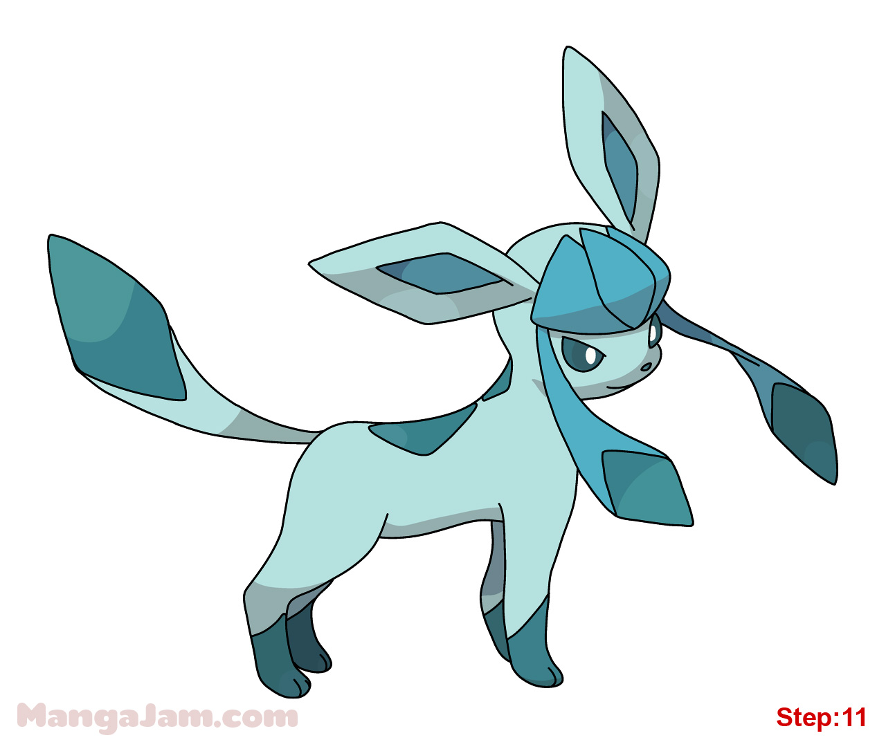 1280x1070 How To Draw Glaceon From Pokemon Step 11 Sisi