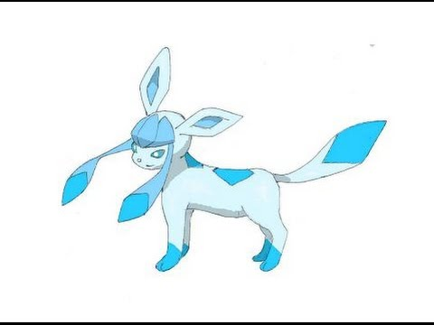 480x360 How To Draw Glaceon From Pokemon (Colored)