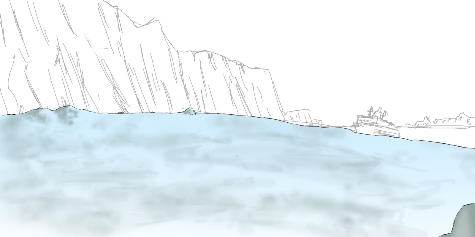 1600x800 Glacier Drawing
