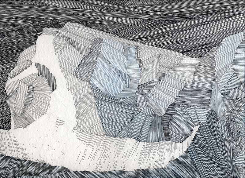 800x583 Inga Dorosz Iceberg2, Ink, Pencil And Goauche On Paper, 11x14