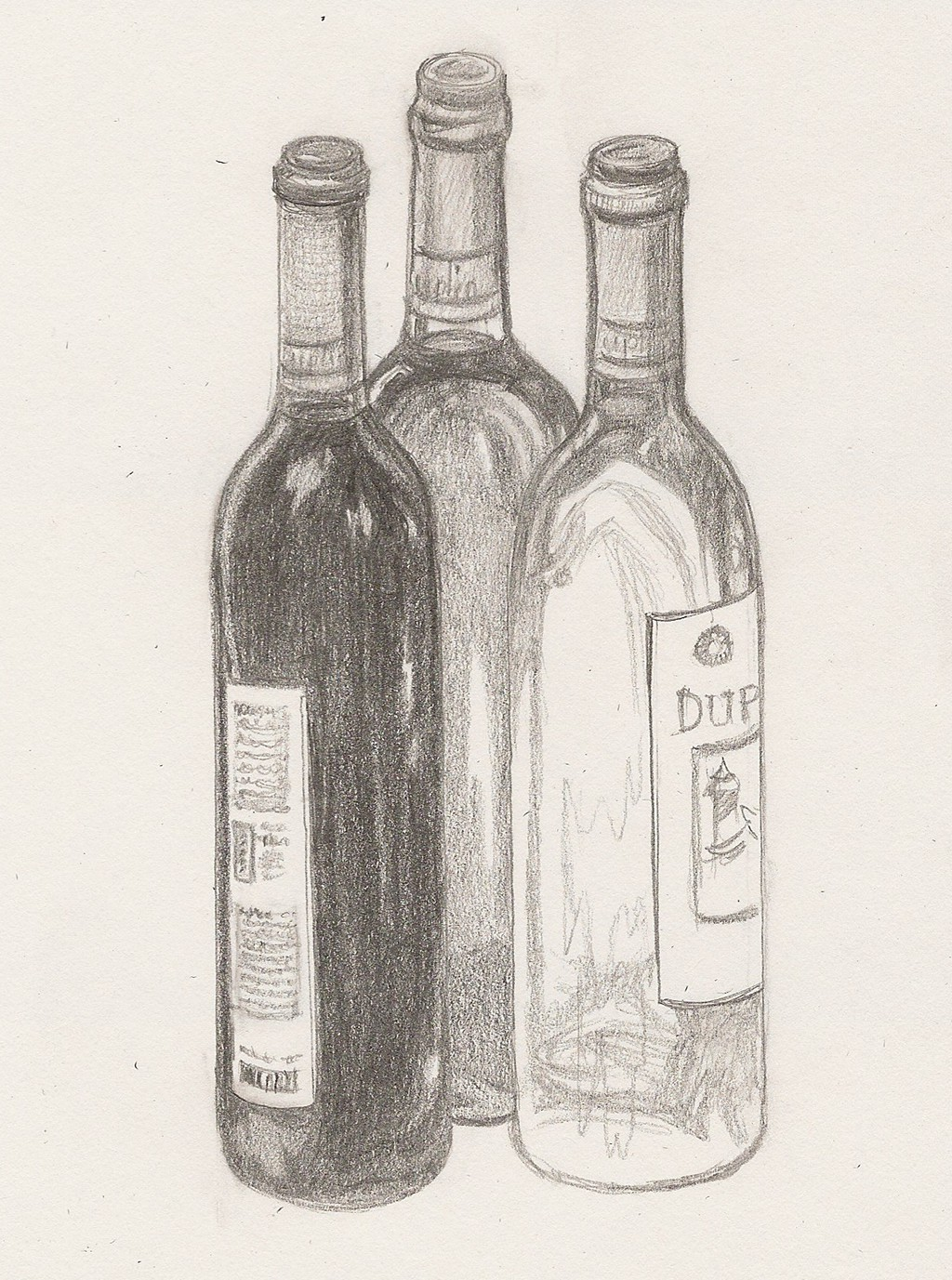1024x1377 Object Drawing Wine Bottle