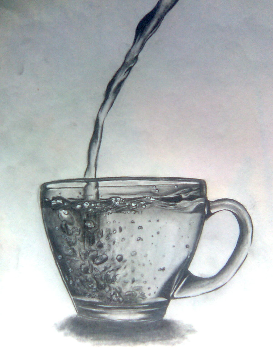 900x1200 Cup With Water By Jokershadow666