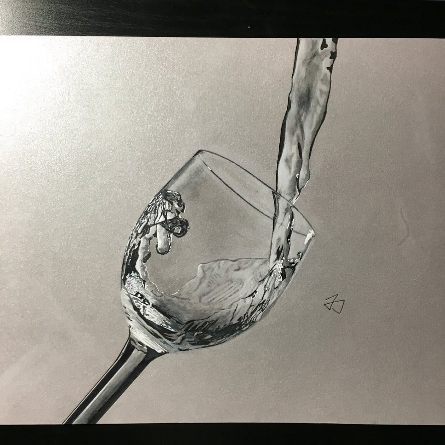894x894 Filling Up A Glass Cup By Boldcat