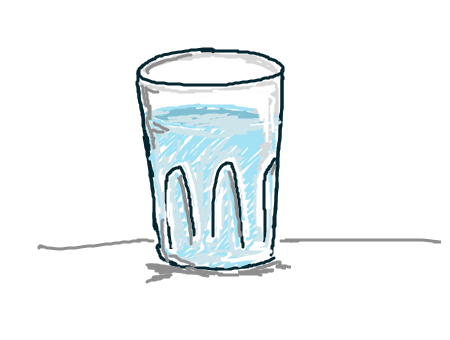 450x340 Gallery Glass Of Water Drawing,