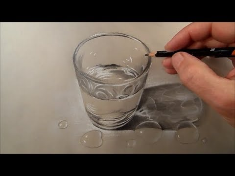 480x360 How To Draw Glass Of Water, Time Lapse