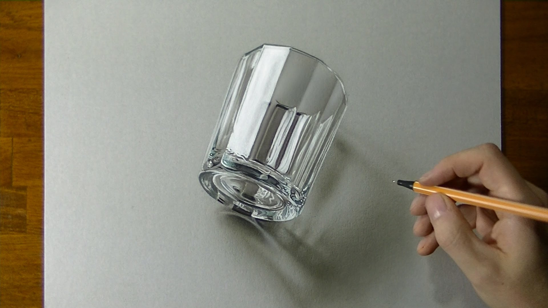 1920x1080 Drawing Of A Glass