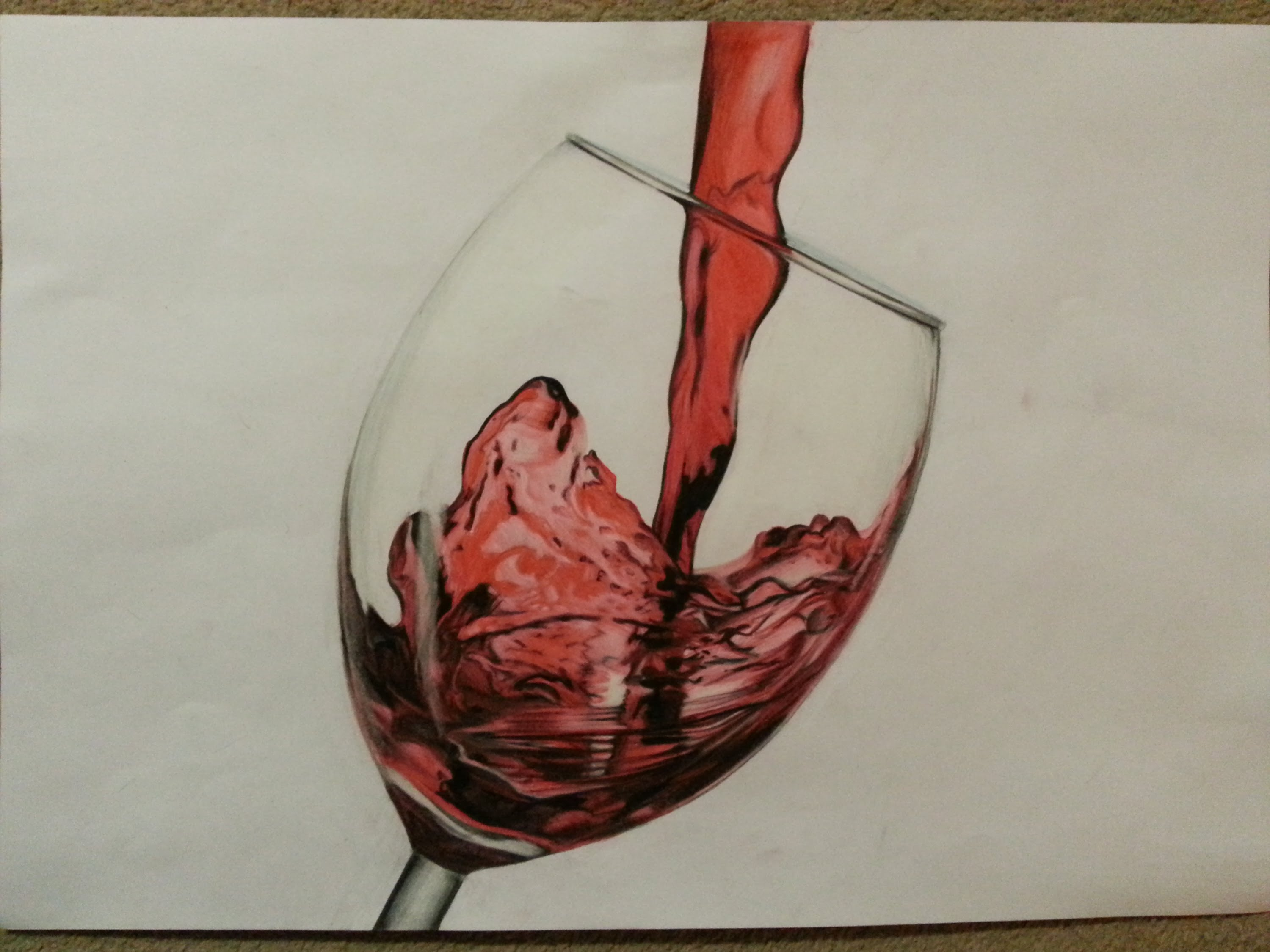 3000x2250 Time Lapse Wine Glass Drawing