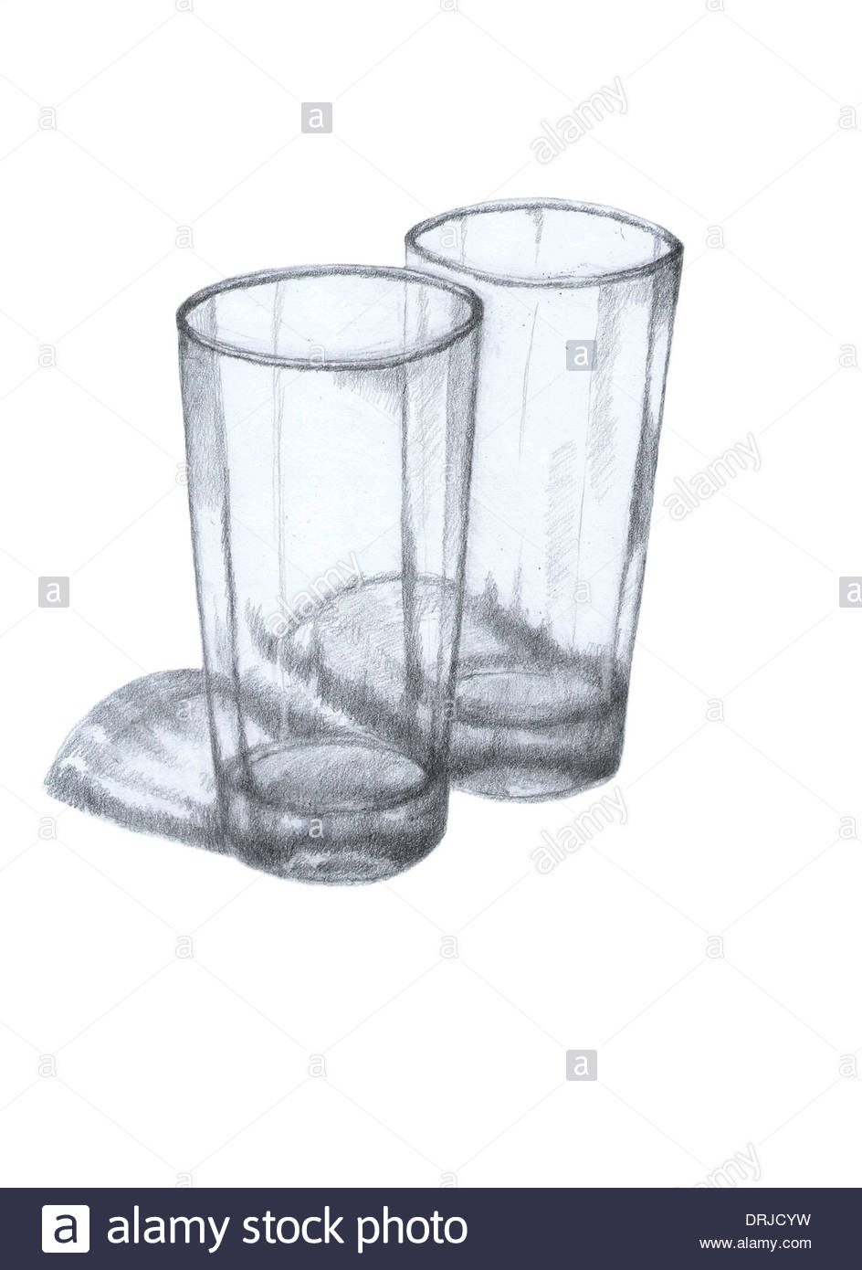 944x1390 Glass Of Water,vessels Of Glass, Drawing, Sketch, Made In Hand