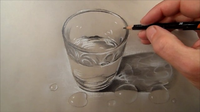 640x360 To Draw Glass Of Water