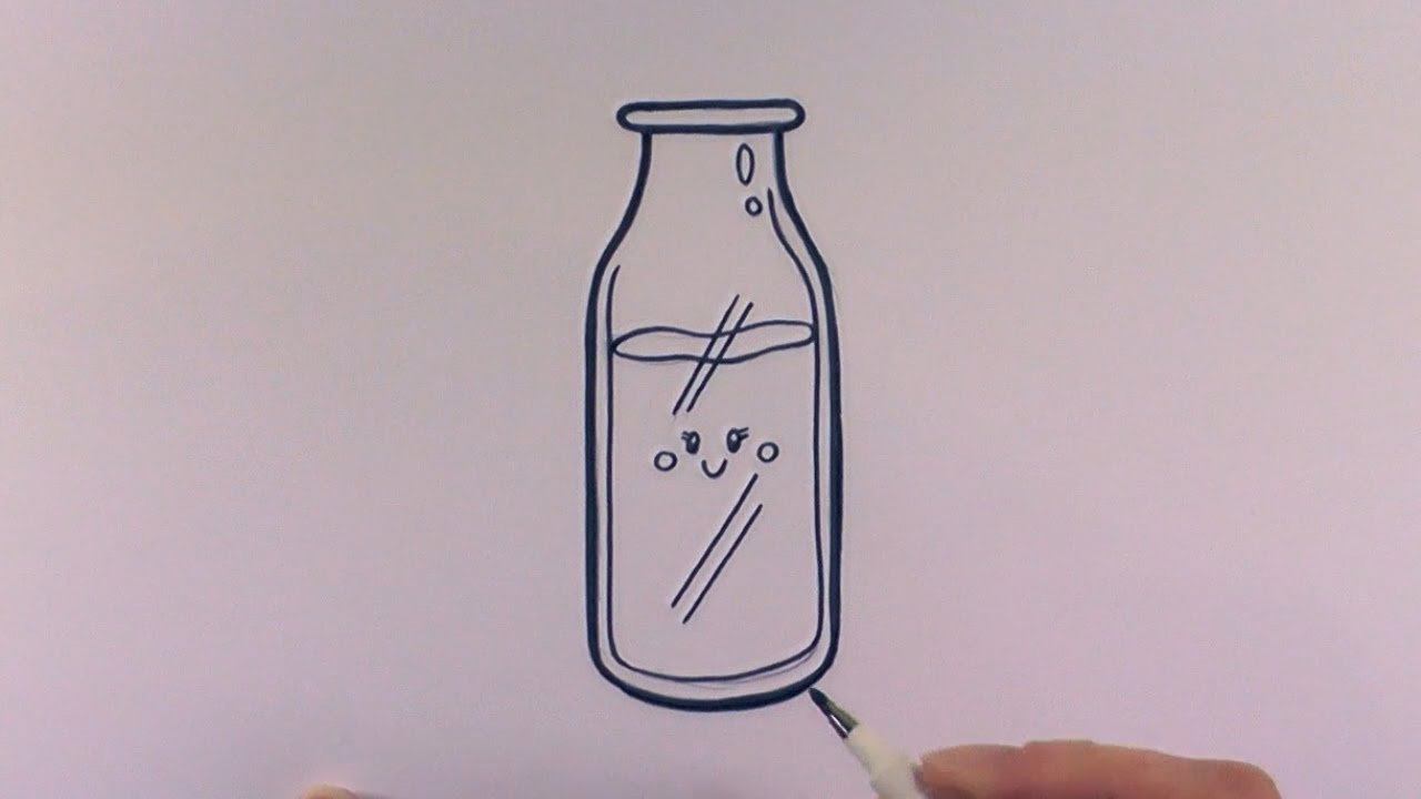 1280x720 How To Draw A Cartoon Bottle Of Milk