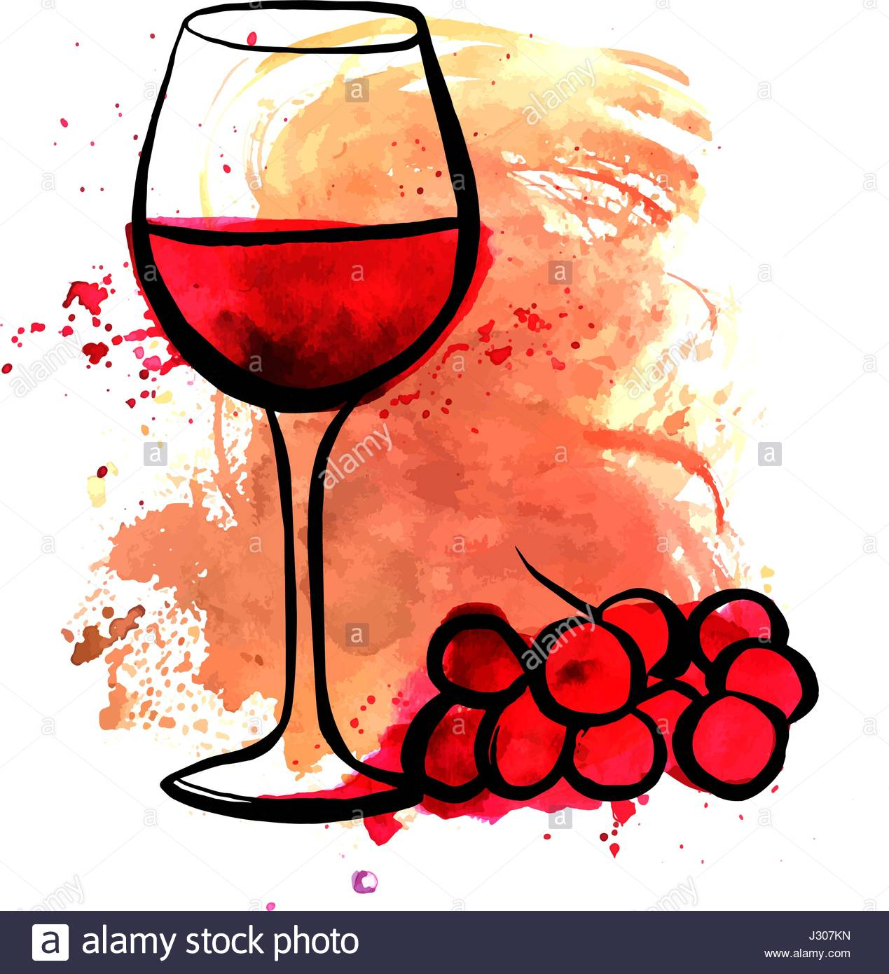 Glass of wine drawing at free for for How to draw on wine glasses