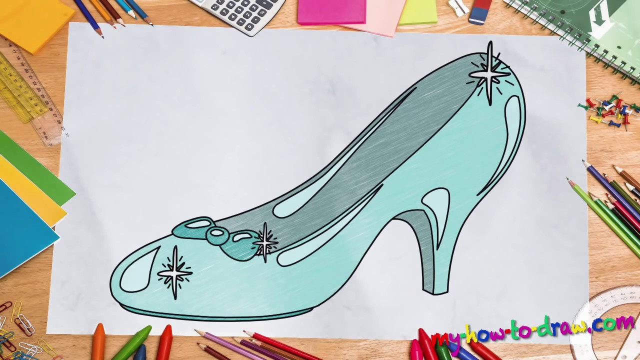 1280x720 How To Draw Cinderellas Glass Slipper