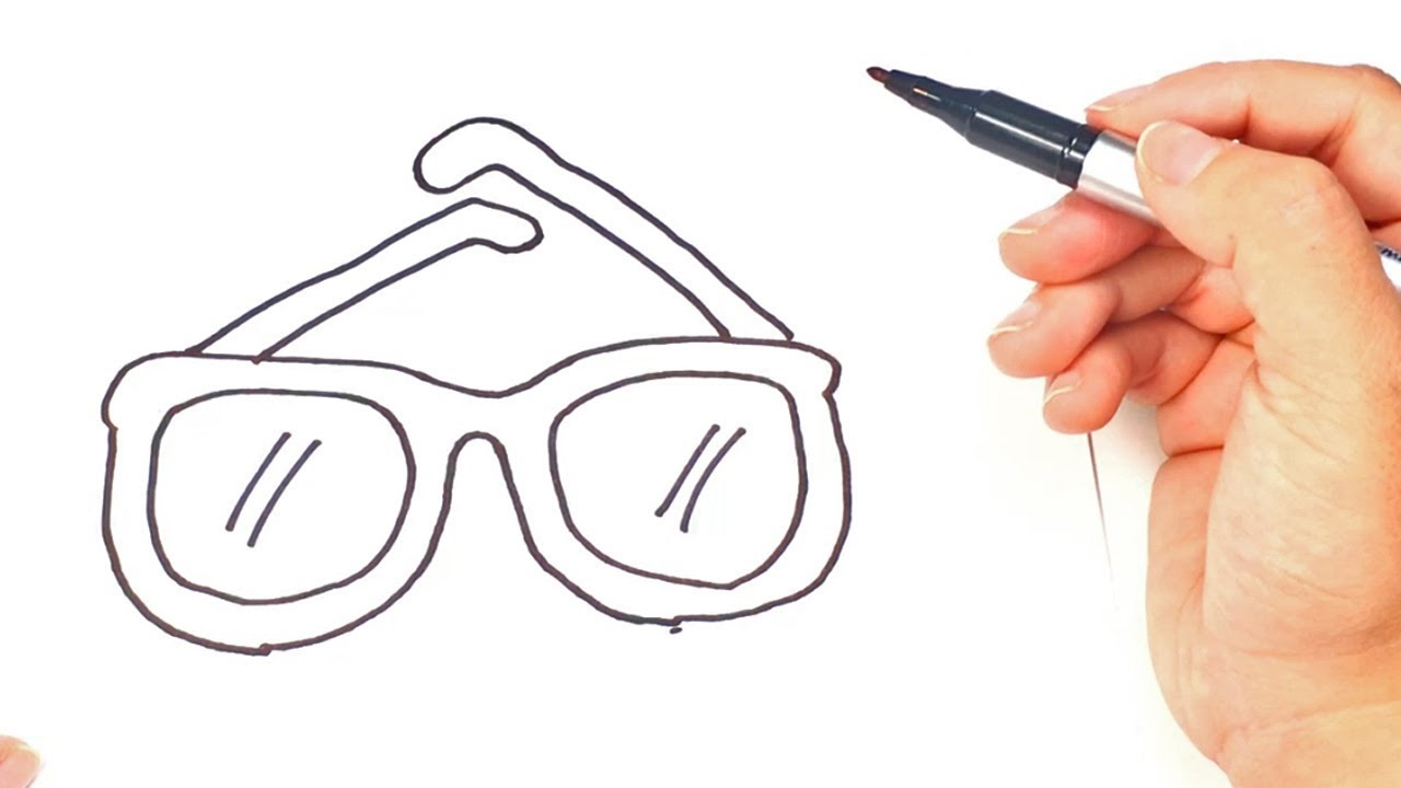 1280x720 How To Draw A Glasses Glasses Easy Draw Tutorial