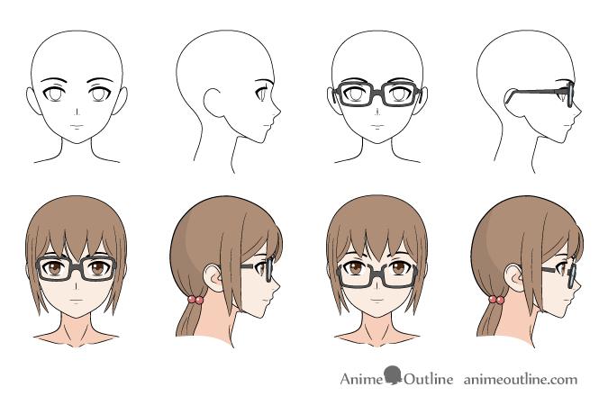 675x450 How To Draw Anime Amp Manga Glasses Anime Outline